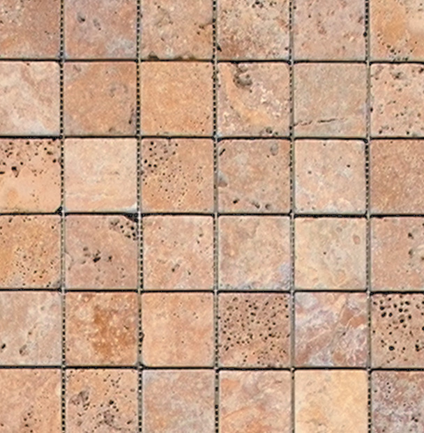 Golden Sienna Tumbled 2x2 Pacifica Stone